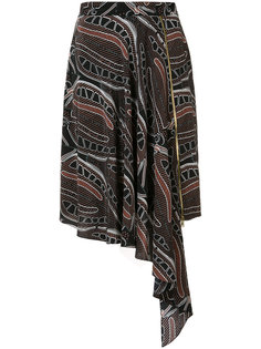 leaf print zipped skirt Sophie Theallet