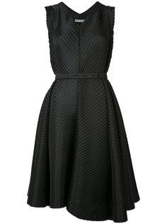 slant pleated dress  Issey Miyake
