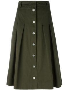 A-line button skirt  Vanessa Seward