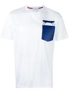 футболка с вышивкой на кармане Salvatore Ferragamo