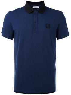 футболка-поло с контрастным воротником Dirk Bikkembergs