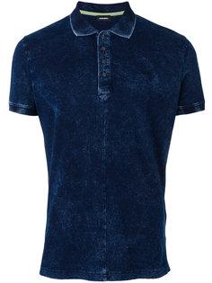 джинсовая футболка-поло  Diesel
