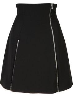 zip-detail flare skirt Jeremy Scott