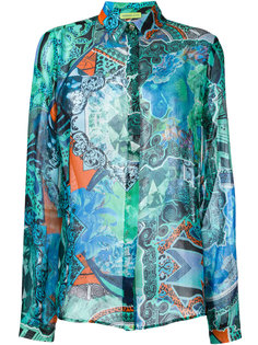 sheer patterned shirt Versace Jeans