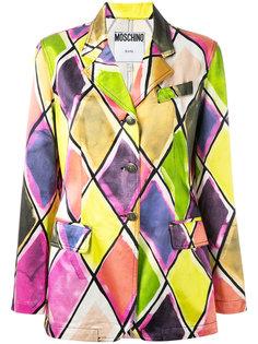 harlequin print jacket Moschino Vintage