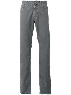 однотонные прямые джинсы Canali