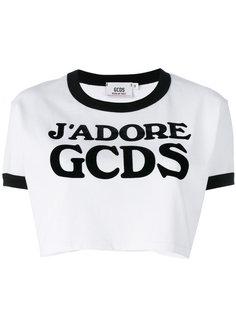 укороченная футболка с логотипом Gcds