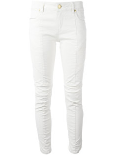 ribbed detail cropped jeans Pierre Balmain