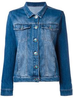 джинсовая куртка с заплаткой на спине Simonetta Ravizza