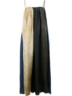 длинное платье дизайна колор-блок Uma Wang