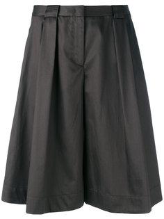 pleated wide-leg shorts Jil Sander Navy