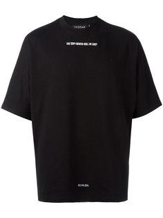 футболка с вышитым текстом Icosae