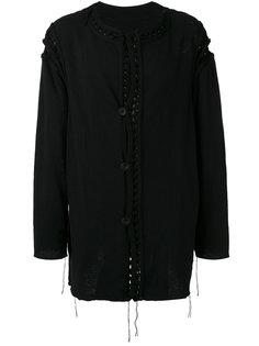 collarless loose fit cardigan Yohji Yamamoto