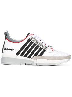 кроссовки со вставкой в полоску Dsquared2