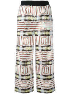 printed cropped trousers  IM Isola Marras