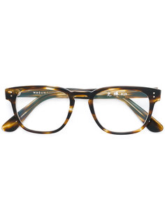square frame glasses Masunaga