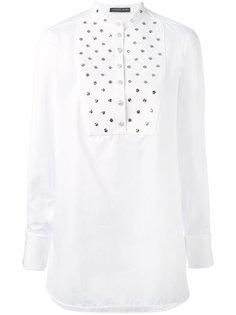 рубашка с заклепками на манишке Alexander McQueen