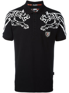 футболка-поло с принтом тигров Plein Sport