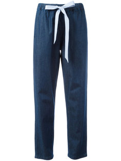 джинсы с завязкой на поясе Erika Cavallini