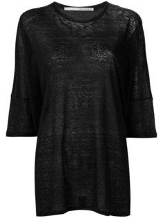 three-quarters sleeve sheer T-shirt Isabel Benenato