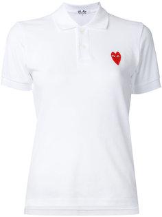 футболка-поло с логотипом-сердцем Comme Des Garçons Play