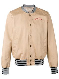 куртка-бомбер с вышивкой Maison Kitsuné