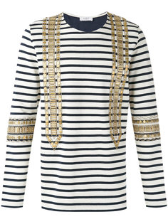 embellished striped sweatshirt  Ports 1961