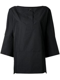 блузка с вырезом лодочкой Jil Sander