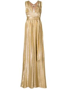 high shine long dress  Halston Heritage