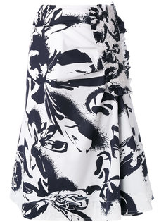 юбка миди с абстрактным принтом Cédric Charlier