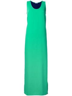 длинное платье с контрастной отделкой P.A.R.O.S.H.