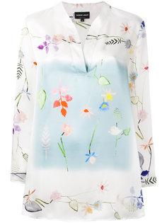 блузка с цветочным принтом Giorgio Armani