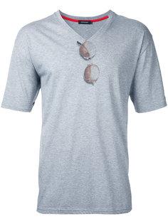 футболка с принтом солнцезащитных очков Loveless