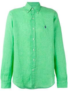 рубашка с вышитым логотипом Polo Ralph Lauren