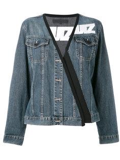 stylised denim jacket  Lutz Huelle