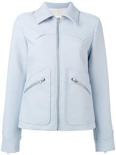 укороченная креповая куртка  Mm6 Maison Margiela