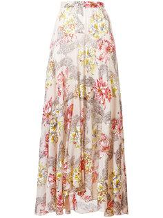 длинная юбка в цветочный принт Philosophy Di Lorenzo Serafini