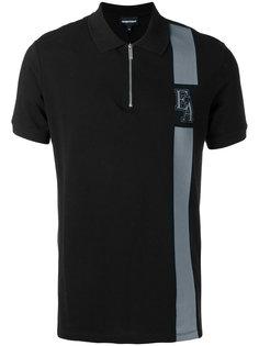футболка-поло с застежкой-молнией Emporio Armani