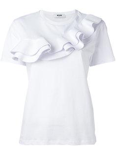 футболка с рюшами MSGM