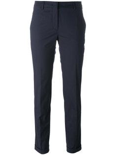 брюки-чинос с отворотами Incotex