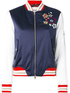 куртка-бомбер с цветочной вышивкой Bazar Deluxe