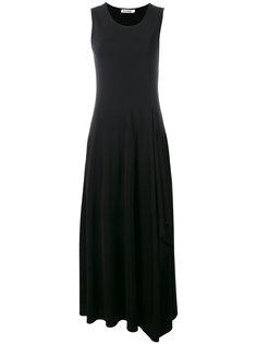 платье без рукавов с юбкой клеш Jil Sander
