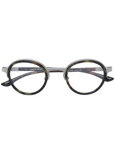 камуфляжные очки в круглой оправе Giorgio Armani