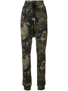 camouflage print track pants Haculla