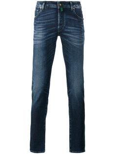 джинсы с потертой отделкой Jacob Cohen