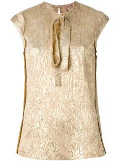 блузка металлик с завязкой на горловине Nº21
