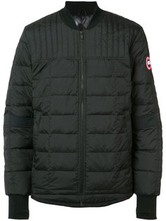 quilted bomber jacket Canada Goose