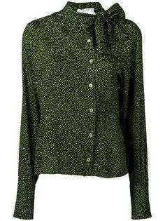 pussybow polka dot blouse Céline Vintage