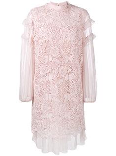 платье с оборками и вышивкой Nº21