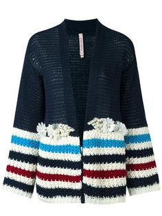 striped panel knit cardigan  Antonio Marras